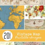 20 Free Vintage Map Printable Images | Remodelaholic #art In Free Printable Maps