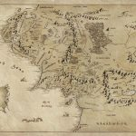 2019 Map Of Middle Earth Lord Of The Rings Art Silk Print Poster Pertaining To Printable Map Of Middle Earth