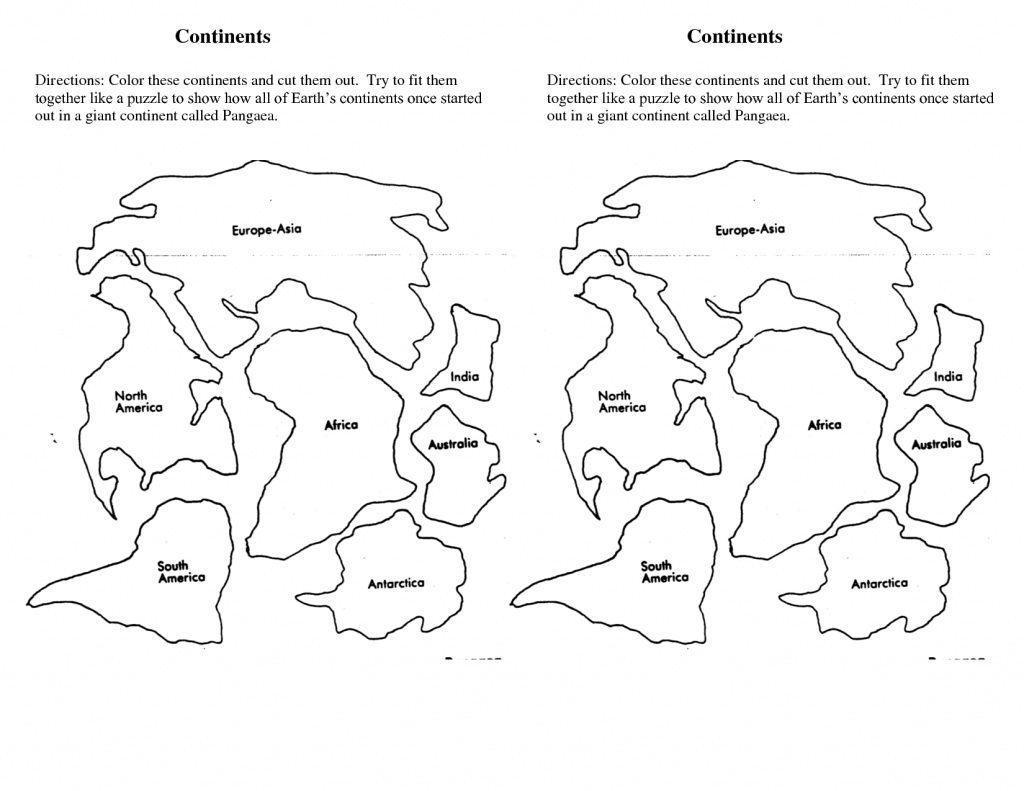 7 Continents Cut Outs Printables | World Map Printable | World Map for Seven Continents Map Printable