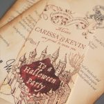 A Very Potter Halloween Party: Invitations | Diy Projects I Might With Free Printable Marauders Map