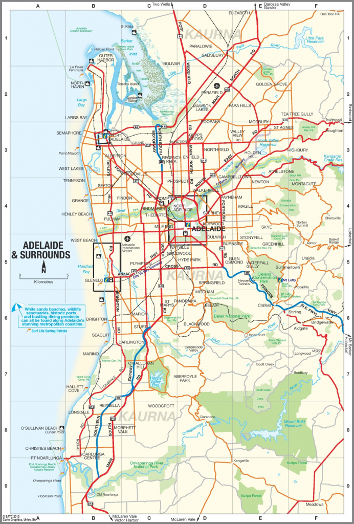 Adelaide Suburbs Map for Printable Map Of Adelaide Suburbs