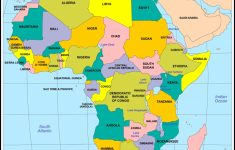 Printable Political Map Of Africa