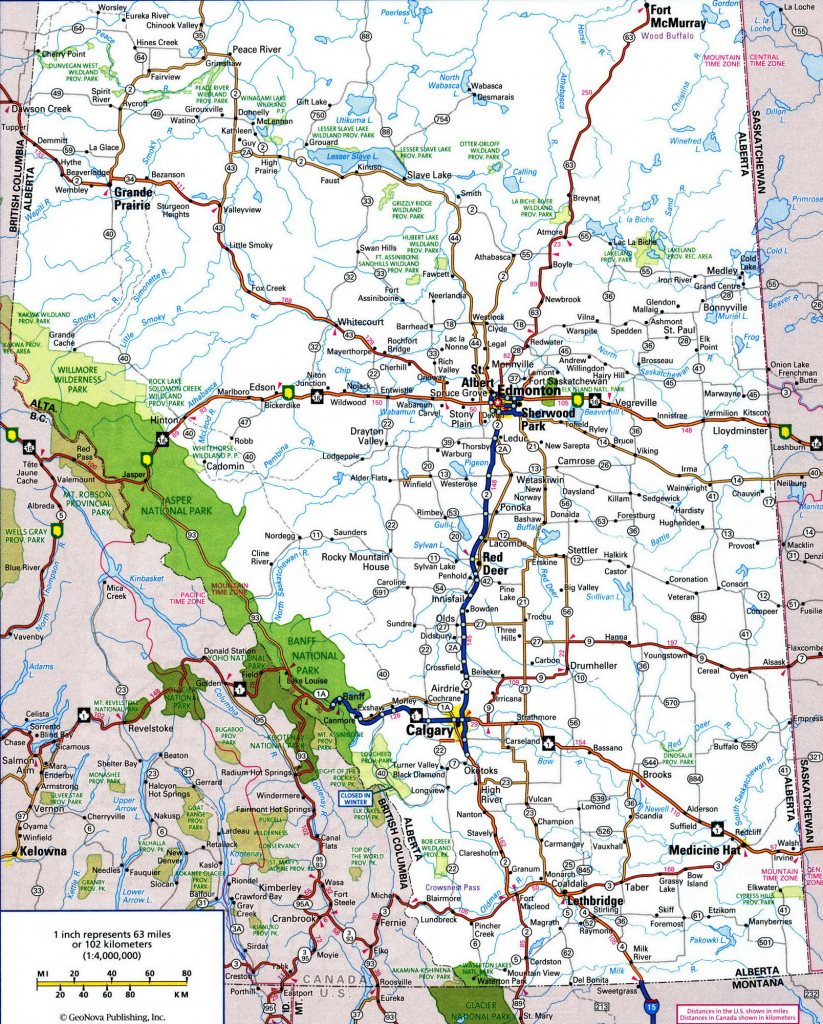 Alb New Road Map Alberta Canada - Diamant-Ltd intended for Printable Alberta Road Map