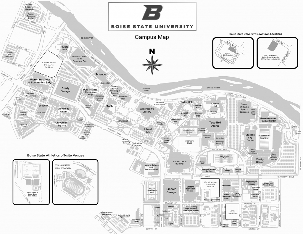 Annual Conference Schedule And Additional Information - Idaho within Boise State University Printable Campus Map