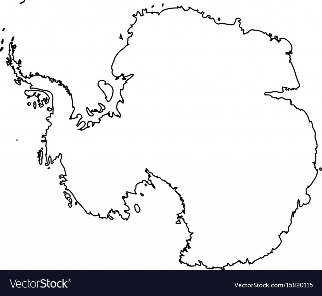 Antarctica Map Outline 14 10 Printable Maps Of | Sitedesignco for Antarctica Outline Map Printable