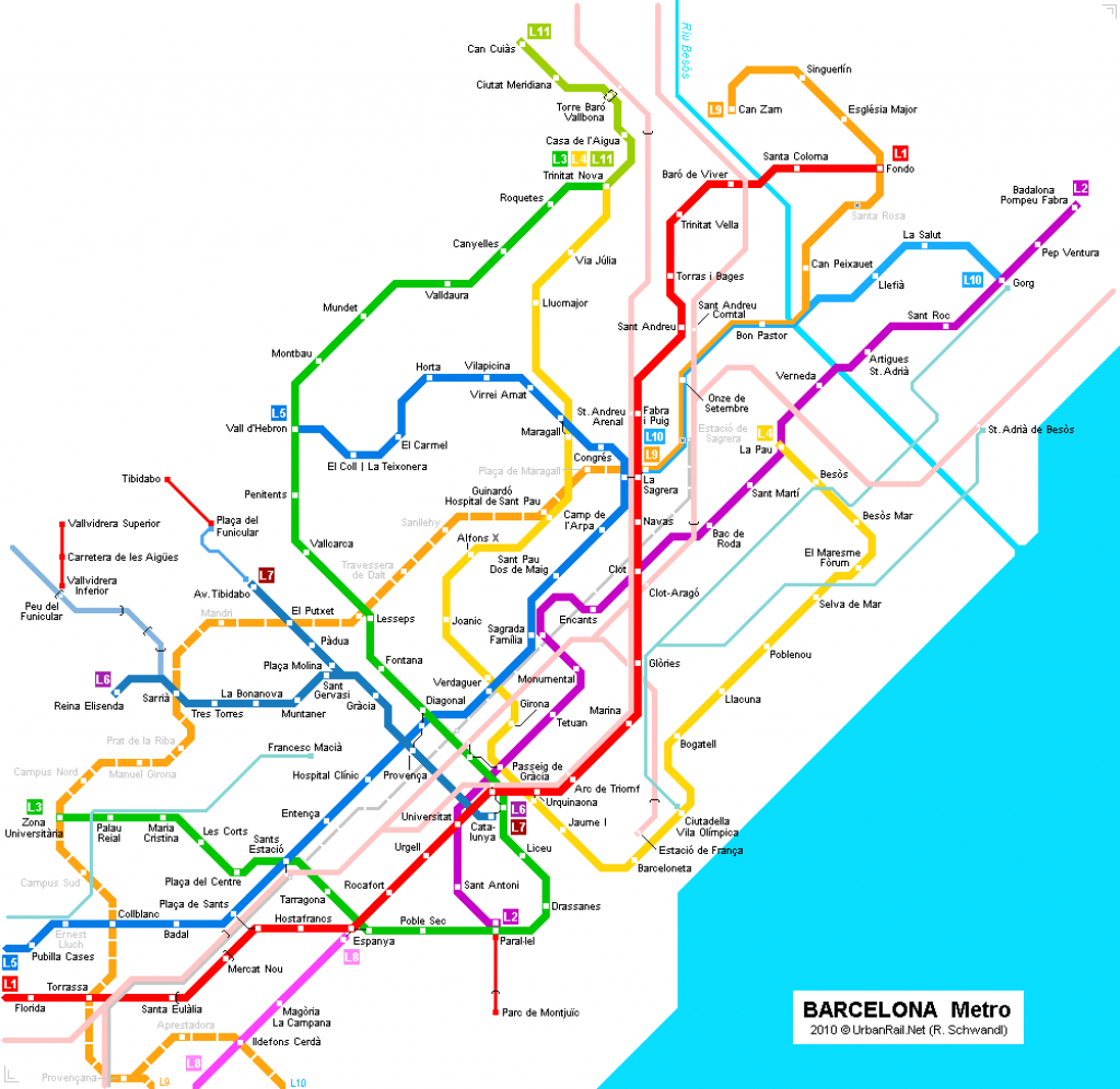 Barcelona Subway Map For Download | Metro In Barcelona - High pertaining to Barcelona Metro Map Printable