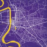 Baton Rouge, Louisiana Map Art   City Prints With Regard To Printable Map Of Baton Rouge