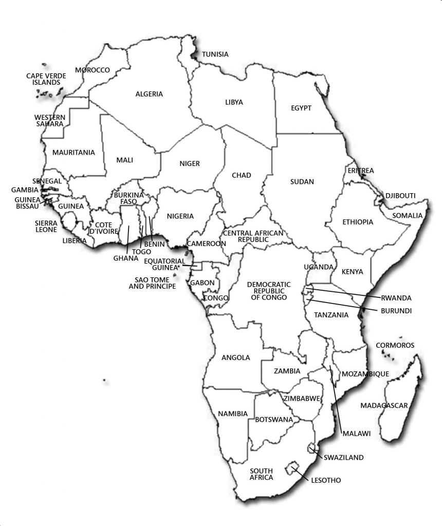 Black And White Map Of Africa Valid Blank Map South Africa To Label within Map Of Africa Printable Black And White