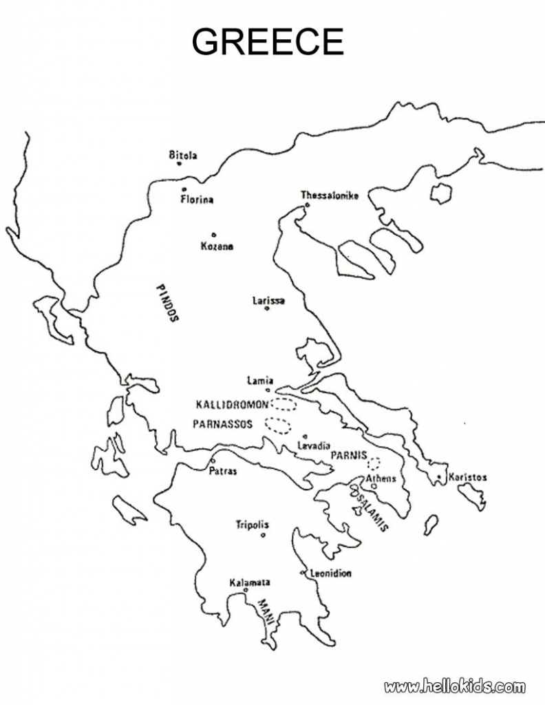 Blank Map Of Ancient Greece | Xorforums throughout Outline Map Of Ancient Greece Printable