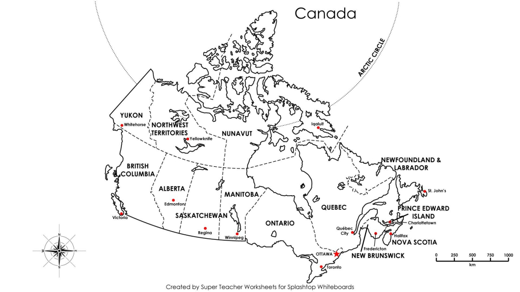 Blank Map Of Canada With Capitals Best Printable Maps New Free throughout Printable Blank Map Of Canada With Provinces And Capitals