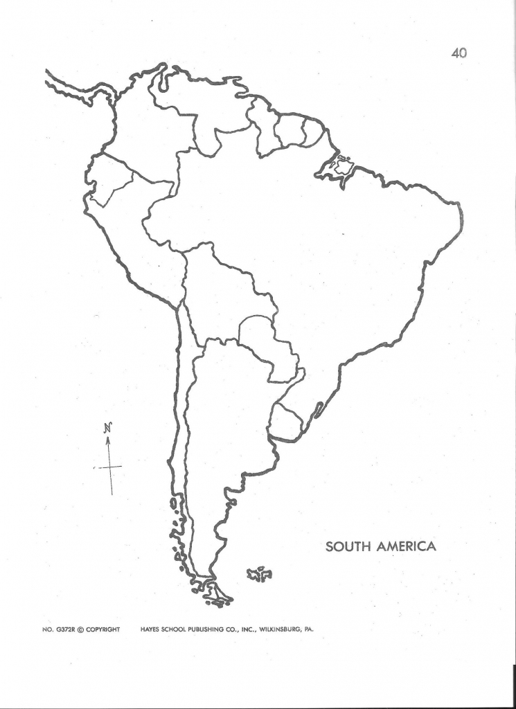 Blank Map Of Central And South America Printable And Travel intended for Printable Blank Map Of South America