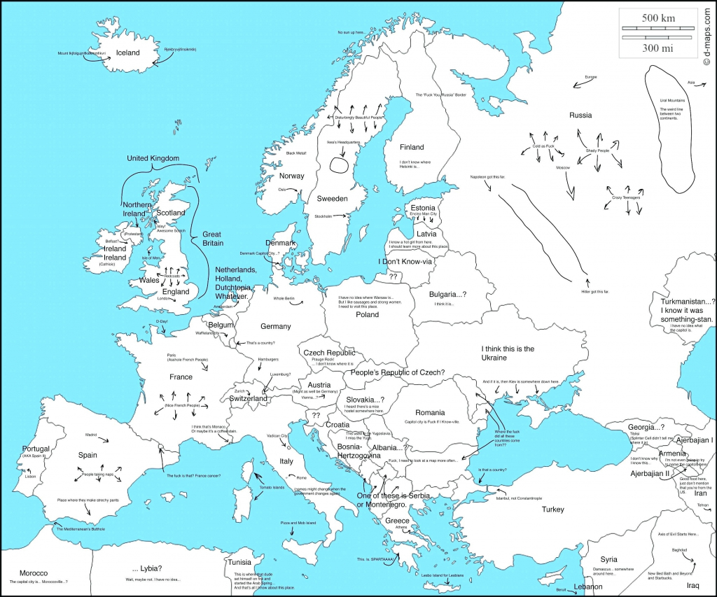 Blank Map Of Europe With Countries Inspirational Printable Map for Printable Map Of Europe With Countries