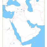 Blank Map Of Middle East | Cc Geography | Middle East Map, Map For Printable Blank Map Of Middle East
