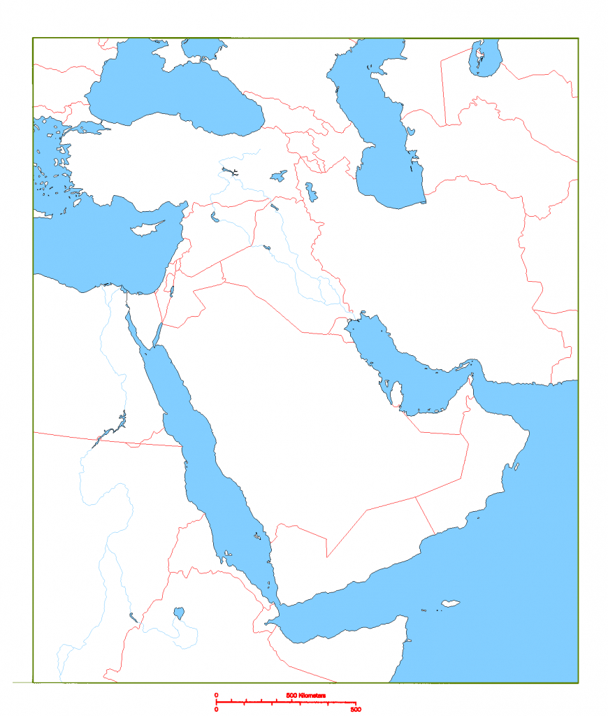 Blank Map Of Middle East | Cc Geography | Middle East Map, Map with regard to Middle East Outline Map Printable