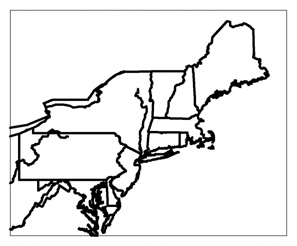 Blank Map Of Northeast Region States | Maps | Printable Maps, Us throughout Printable Map Of Northeast States