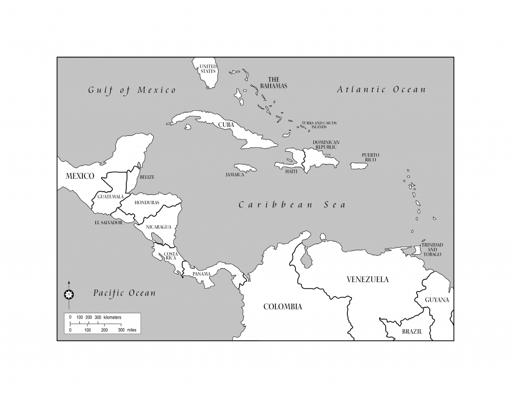 Blank Map Of The Caribbean And Travel Information | Download Free intended for Printable Blank Caribbean Map