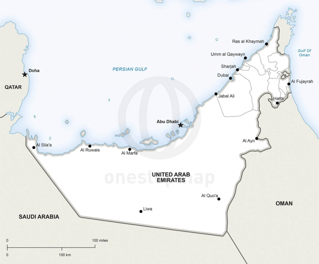 Blank Map Of The Uae | Download Them And Print throughout Outline Map Of Uae Printable