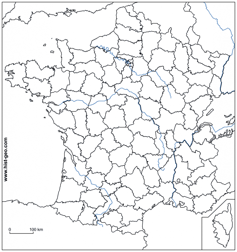Blank Outline Maps Of France with regard to Map Of France Outline Printable