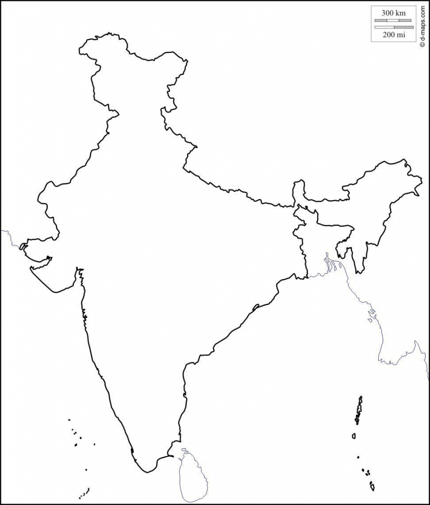 Blank Physical Map Of India | Park Ideas inside Physical Map Of India Printable