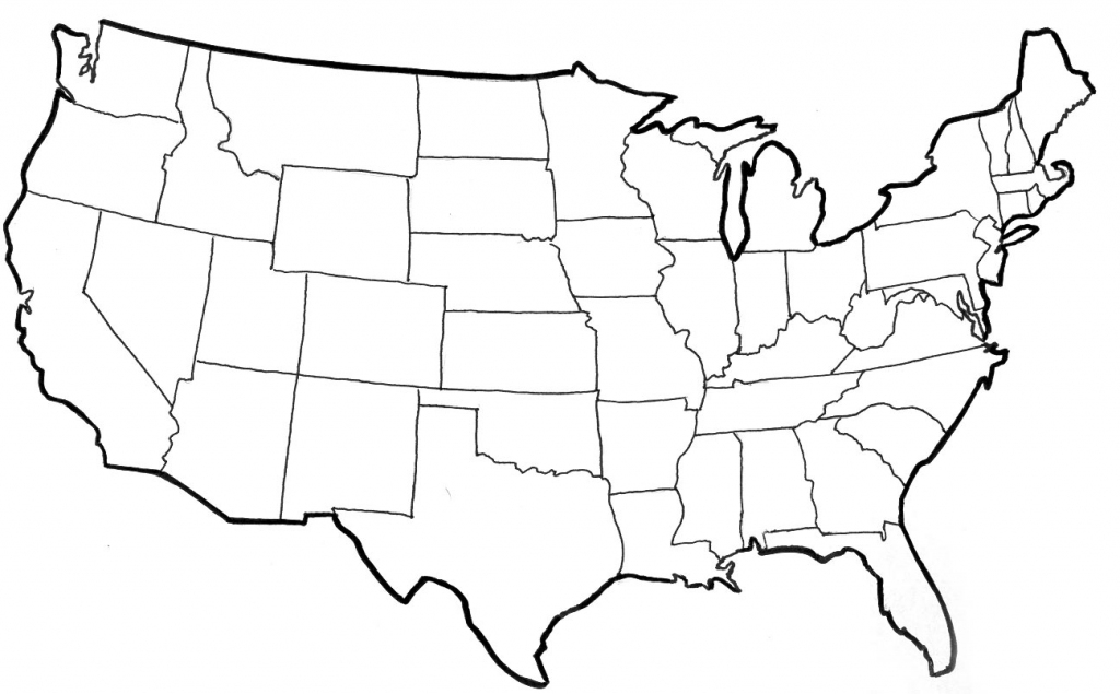 Blank Political Map Of The United States throughout Blank Us Map With State Outlines Printable
