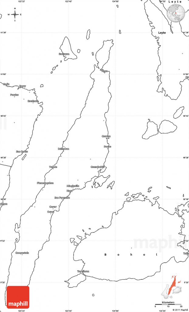 Blank Simple Map Of Cebu pertaining to Cebu City Map Printable