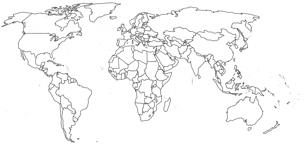 Blank World Map Byu As Unlabeled Pdf New Outline Transparent B1B within Free Printable Blank World Map
