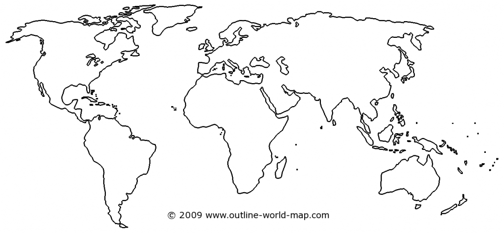 Blank World Map Image With White Areas And Thick Borders - B3C | Ecc within World Map Outline Printable