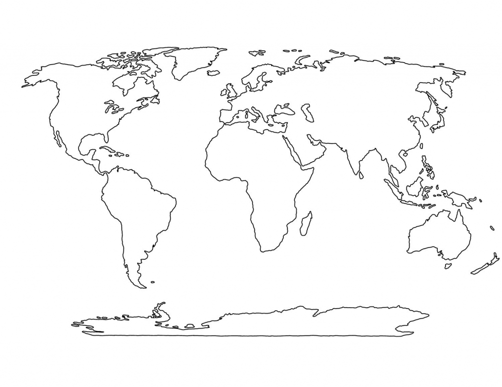 Blank World Map Printable | Social Studies | World Map Template with Empty World Map Printable