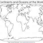 Blank World Map To Fill In Continents And Oceans Archives 7Bit Co Within Map Of Continents And Oceans Printable