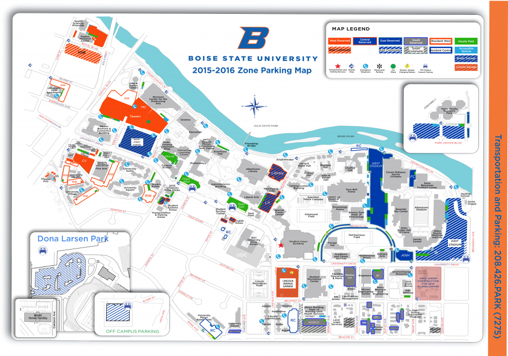 Boise State University Campus Map - Topdjs for Boise State University Printable Campus Map