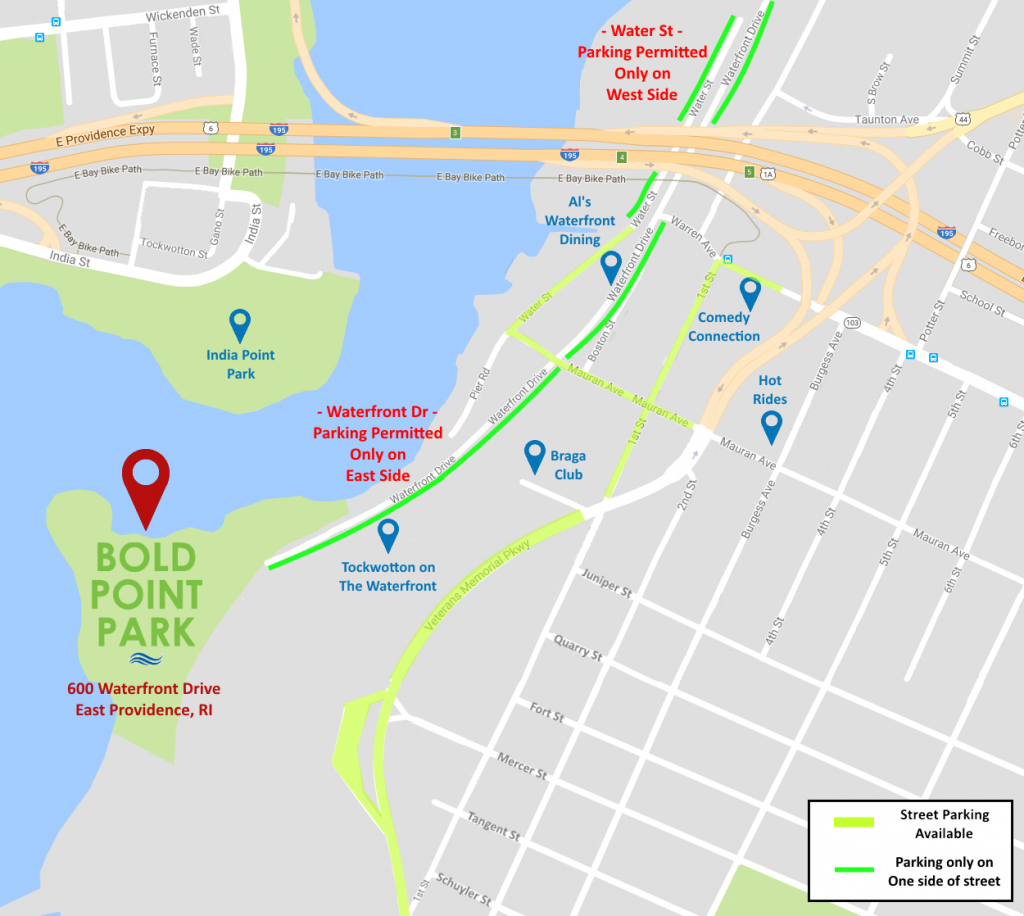 Bold Point Park Venue « Rhode Island Waterfront Events inside Printable Map Of Providence Ri