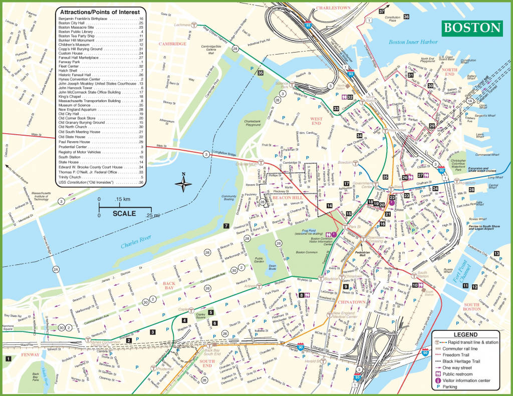 Boston Tourist Attractions Map - Boston Tourist Map Printable with regard to Printable Map Of Boston Attractions