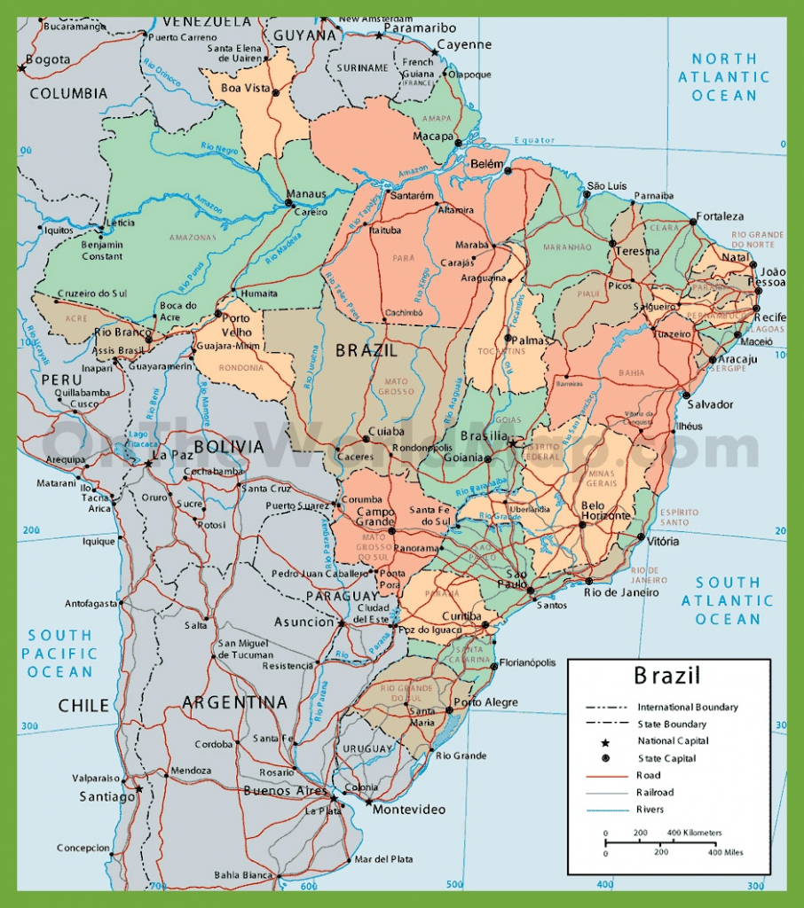 Brazil Maps | Maps Of Brazil pertaining to Printable Map Of Brazil