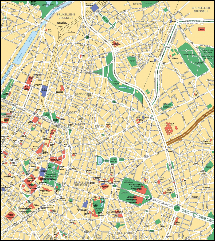 Brussels Map - Detailed City And Metro Maps Of Brussels For Download pertaining to Printable Map Of Brussels