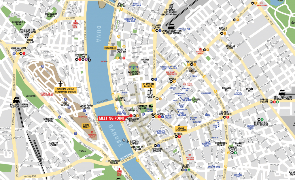 Budapest Attractions Map Pdf - Free Printable Tourist Map Budapest throughout Printable Map Of Budapest