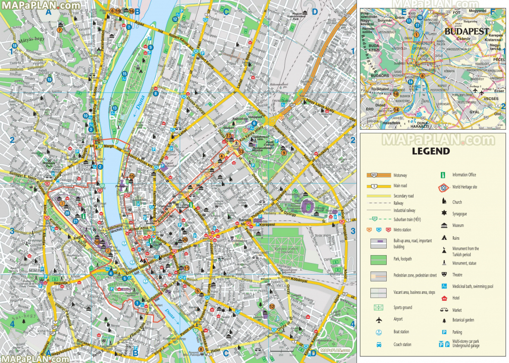 Budapest Maps - Top Tourist Attractions - Free, Printable City within Printable Tourist Map Of St Petersburg Russia