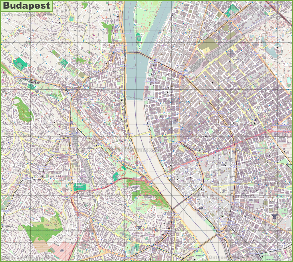 Budapest Street Map within Budapest Street Map Printable