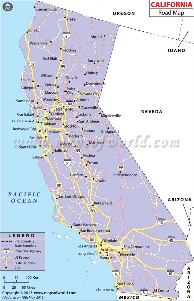 California Road Map Map California Southern California Highway Map intended for Printable Map Of Southern California Freeways