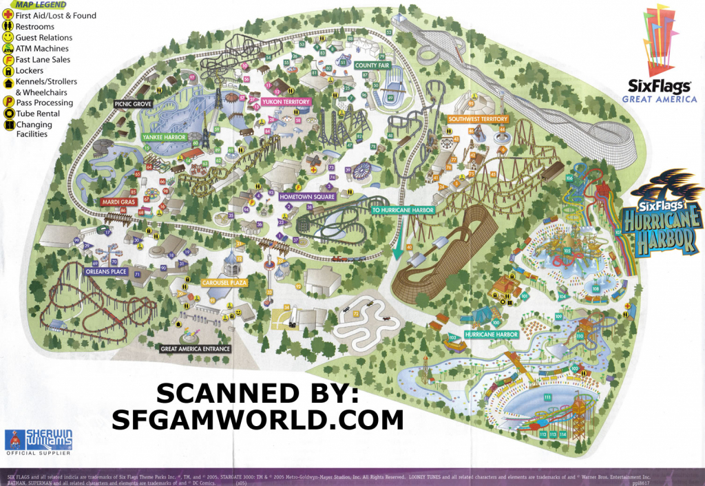 California S Great A California State Map Californias Great America pertaining to Six Flags Great America Printable Park Map