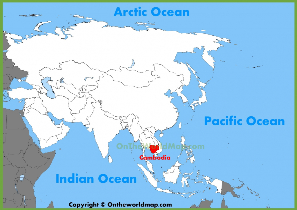 Cambodia Maps   Maps Of Cambodia intended for Printable Map Of Cambodia