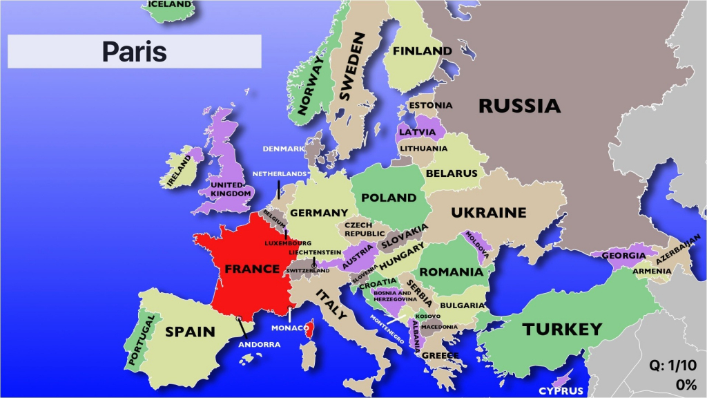 Category Europe Map 29 Eastern Countries Quiz Labeled Blank Western for Europe Map Puzzle Printable