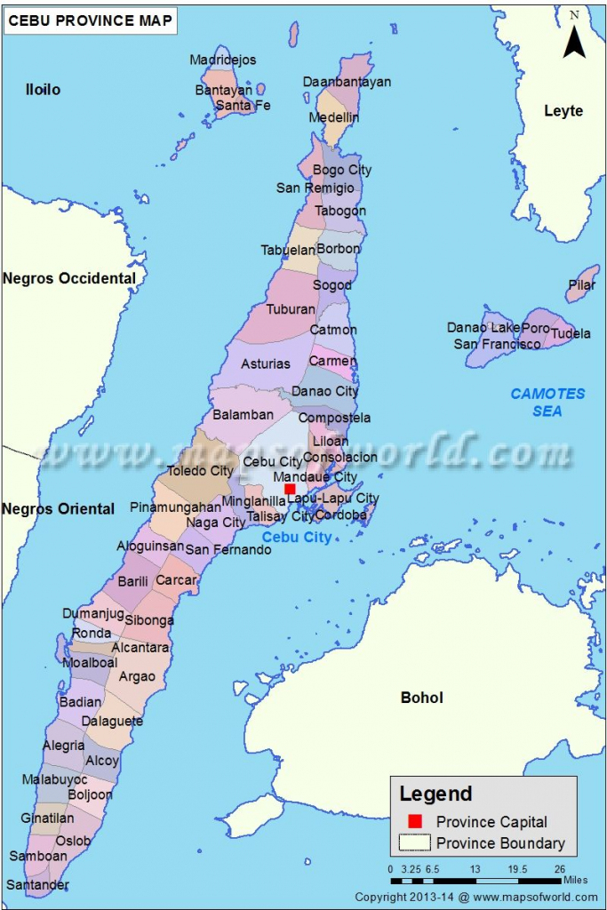 Cebu Map | Everything Philippines | Cebu, Philippines, Visayas intended for Cebu City Map Printable