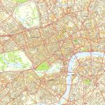 Central London Offline Sreet Map, Including Westminter, The City Intended For Printable Street Map Of Central London