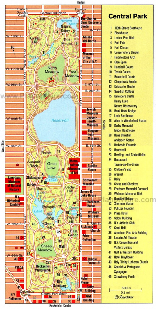 Central Park Printable Map | Nyc In 2019 | Map Of New York, New York inside Printable Map Of Central Park