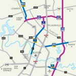Central Texas Toll Roads Map   Austin Texas Road Map | Printable Maps Throughout Printable Map Of Austin