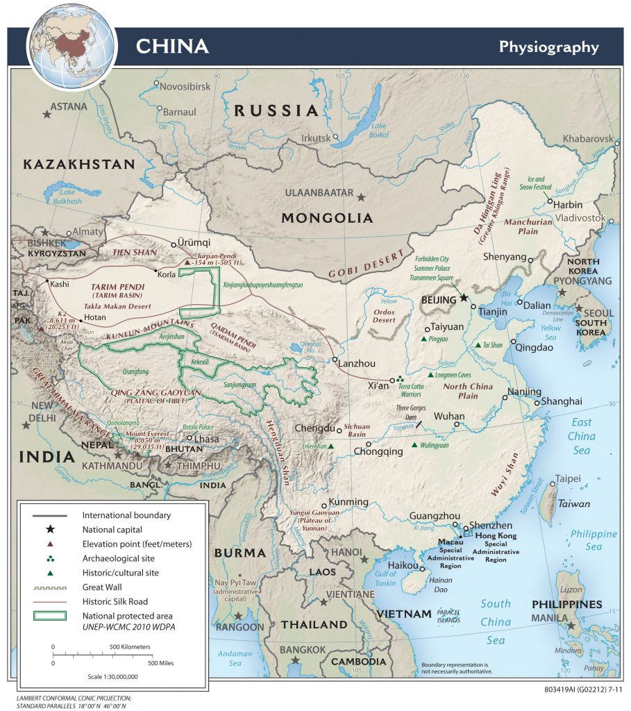 China — Central Intelligence Agency inside Printable Map Of China For Kids