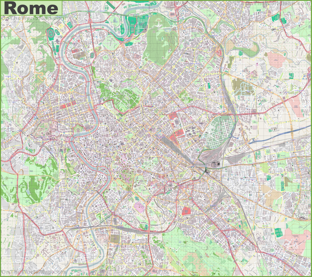 City Map Of Rome Italy And Travel Information   Download Free City inside Street Map Of Rome Printable