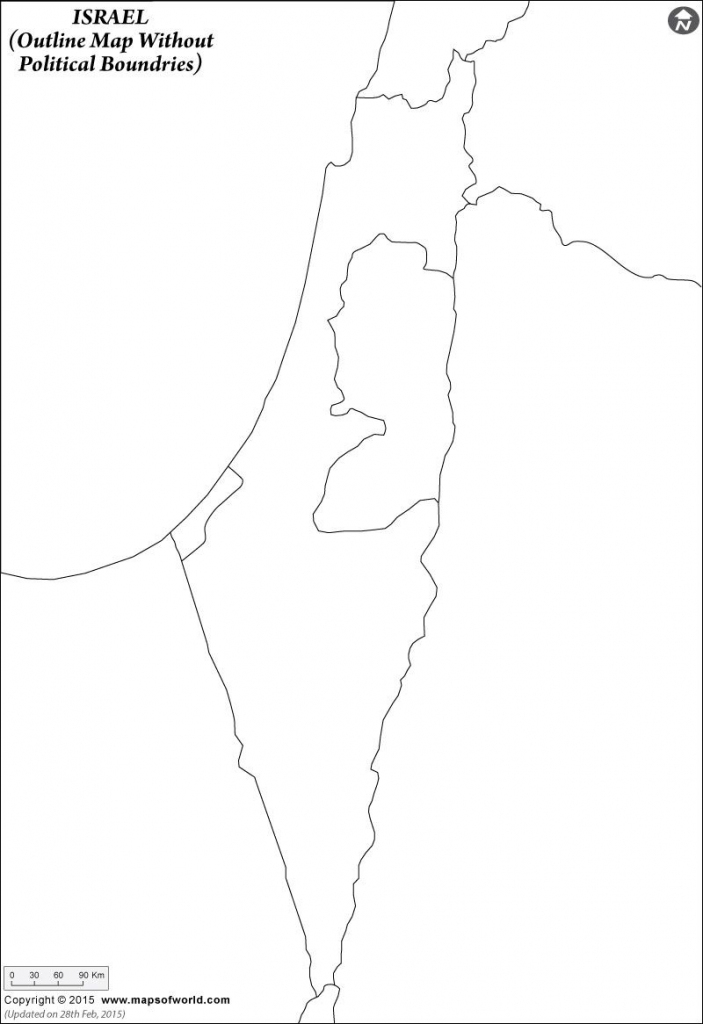 Click To View And Print The #israel #blank #map With Or Without inside Israel Outline Map Printable