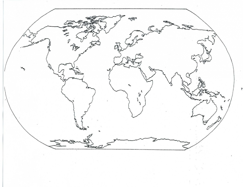 Continents Blank Map | Social | World Map Coloring Page, Blank World intended for World Map Oceans And Continents Printable