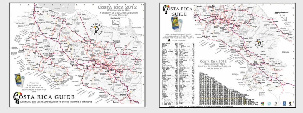 Costa Rica Map – Printable Pdf Download intended for Free Printable Map Of Costa Rica
